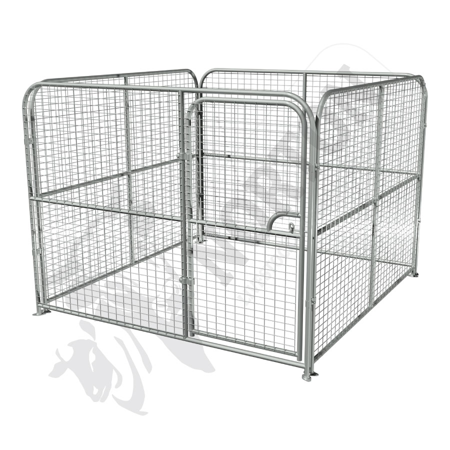 dog-pens-galvanised-mesh-complete